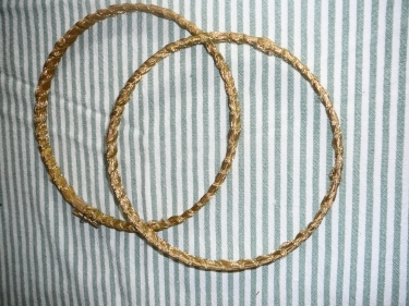 Your now ready  to put your Embroidery hoops together.