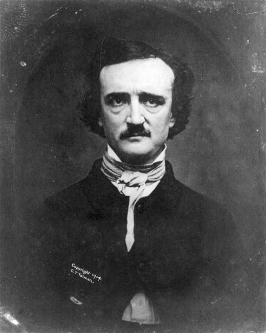 A daguerreotype of Edgar Allan Poe taken in 1848.