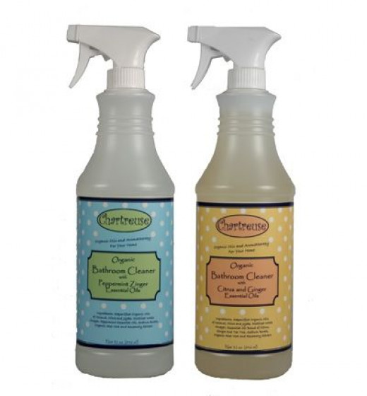 Items like the All Natural Bathroom Cleaner are sold in bottles, but refills are sold in pouches to reduce the consumption of pl