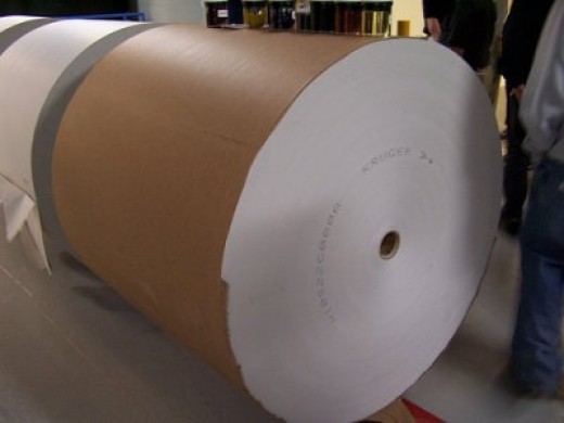 Publishers often have extra newsprint rolls that may be cheap or even free.
