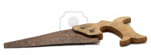 rusty hand saw