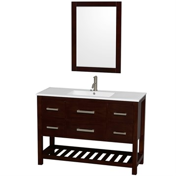 Wyndham vanity with integrated sink