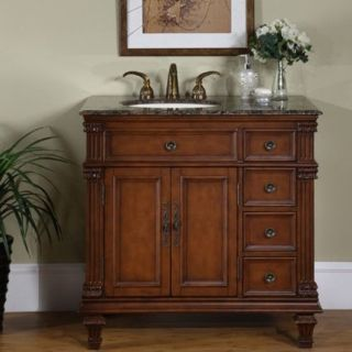 traditional 36 inch off center vanity