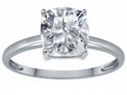 14k gold white topaz engagement ring under $500