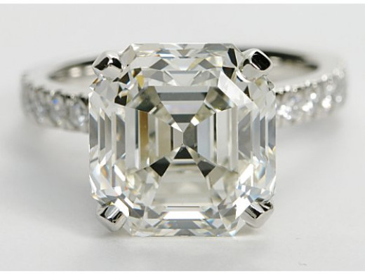 Claw prongs are a great setting for asscher cut diamonds.