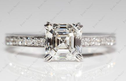 Try this James Allen split claw prong engagement ring setting for your Asscher stone.