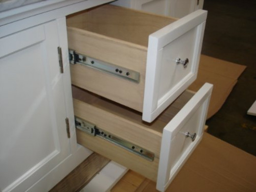 See the quality in the construction of the Beverly vanity by Kitchen Bath Collection