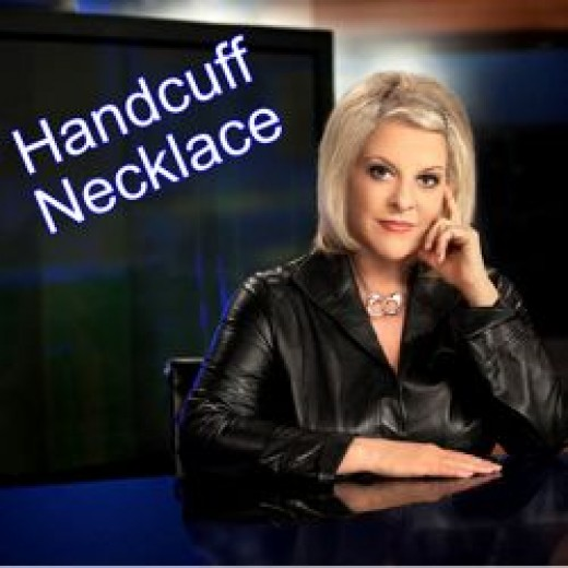 Love Nancy's necklace? Get your own Nancy Grace handcuff necklace online today.