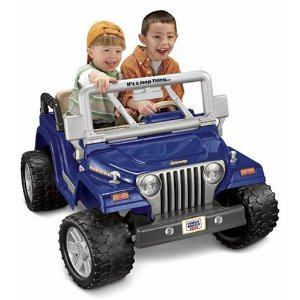 Get one of these ride-on Jeeps so they can get the most use out of it before they outgrow it.