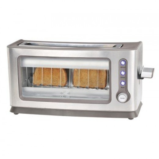 The Kalorik See-Through toaster will add visual interest to your kitchen counter.