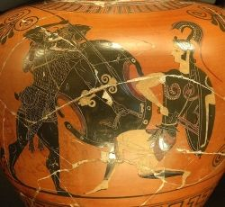 Herakles fighting unnamed Amazon
