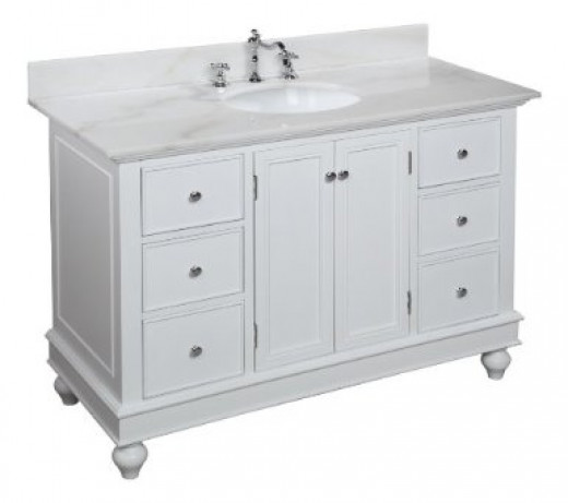 The Bella Vanity from KBC is a great affordable alternative to the PB Turned Leg console. Click link below to learn more.