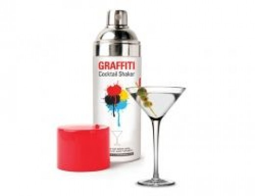 grafiti ccktail shaker mad men office  gifts