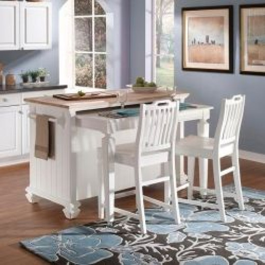 two tier kitchen island