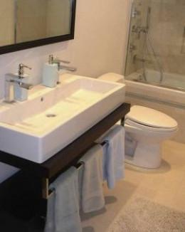 Duravit Vero two hole sink trough vanity