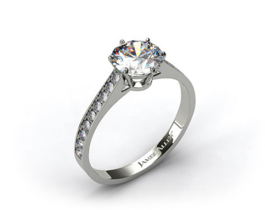Customize this gorgeous six-prong pave setting at JamesAllen.com