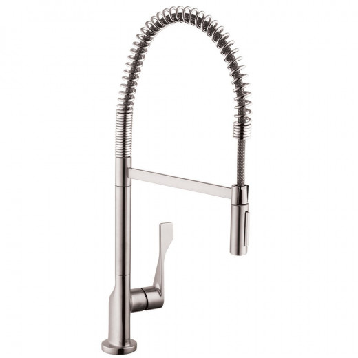 Minimalist style meets commercial industrial in this Axor faucet by Hansgrohe