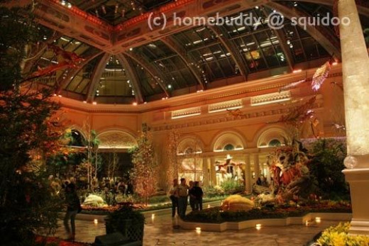 The Conservatory at the Bellagio - Indoor botanical gardens that are great for photo ops for the whole family.  They change the garden theme according to the season.