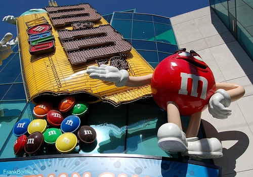 M&M's Museum on the Strip near MGM Grand - Candy store featuring the cutest M&Ms items. Photo Credit: http://www.flickr.com/photos/abstractstv/6091530725/