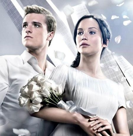Peeta and Katniss Catching Fire White Outfit