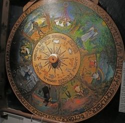 The Wheel of the Year in the Museum of Witchcraft, Boscastle