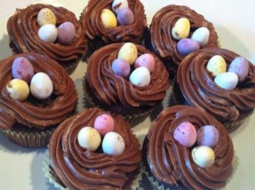 Best Bird Nest Cupcakes Recipe - image copyright of the author