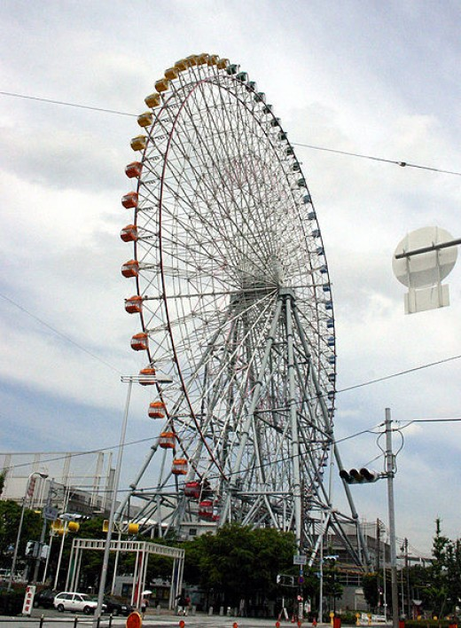 Tempozan Harbor Village Ferris wheel in Osaka