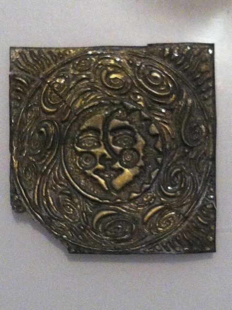 UTEE sun embellishment. Made from mold created from a rubber stamp