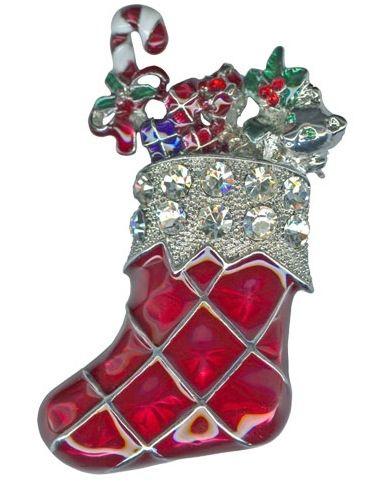 Kirks Folly Christmas Stocking Pin