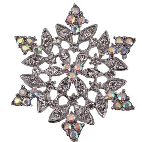 Kirks Folly Crystal Frost Snowflake Pin