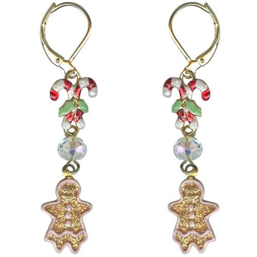 Kirks Folly Mrs Gingerbread Leverback Earrings