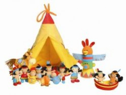Lilliputiens Wigwam and Indians Play Set: Review