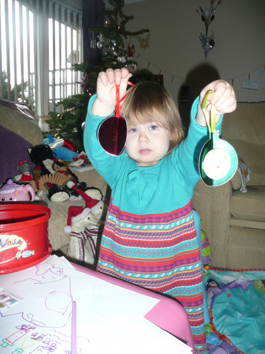 ...and even making Christmas decorations!