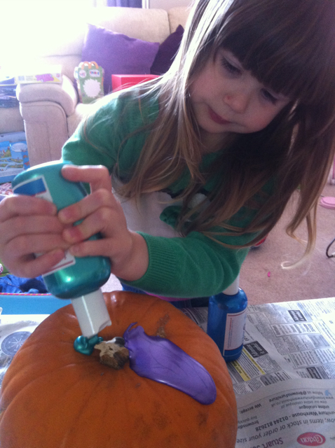 ...to decorating Halloween pumpkins...