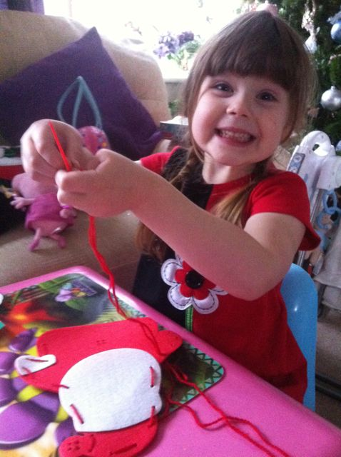 ...and she most definitely LOVES being a Little Crafty Kid!