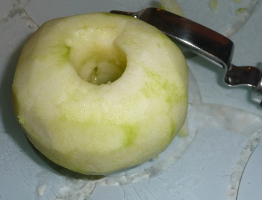 7. Core the apples with an apple corer
