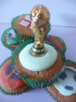 World Cup Trophy Football Cupcake