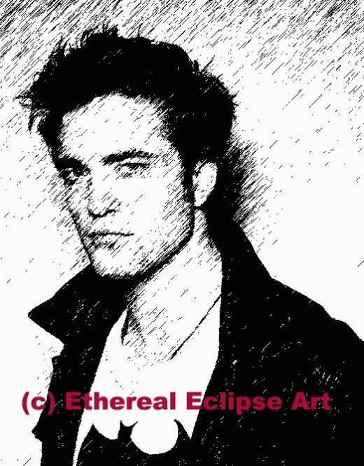 Robert Pattinson Sketch by Ethereal Eclipse Art