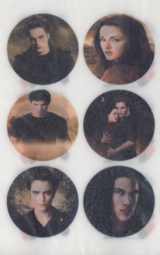 Bella, Edward and Jacob Cupcake Toppers