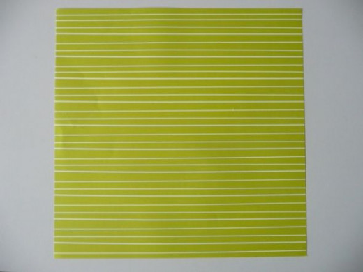 12x12 scrapbook paper in pale green stripes