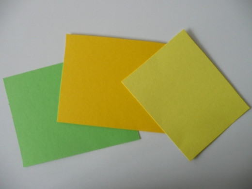 Cardstock in similar colours to Bella's cake - greens and yellows