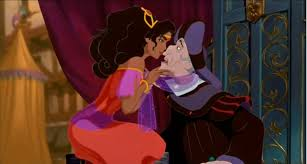 Esmeralda teases Frollo as she dances at the Festival of Fools