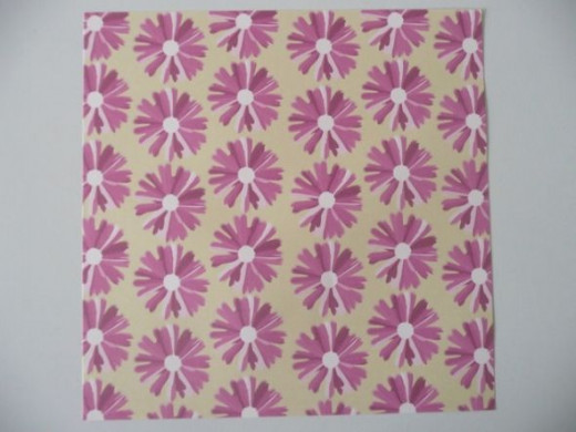 12x12 cute ditsy daisy scrapbook paper