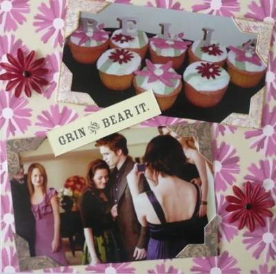 Happy Birthday Bella - Grin and Bear It - Alternative Twilight Scrapbook Page Design