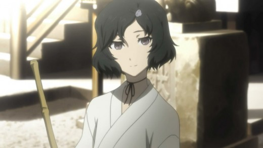 Ruka Urushibara is 'actually a guy.' Friends with Mayuri and a bit shy, he holds feelings for Okabe and has difficulty with his feminine appearance.
