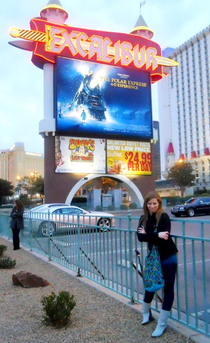 Out on the Las Vegas strip for more...well...shopping of course!