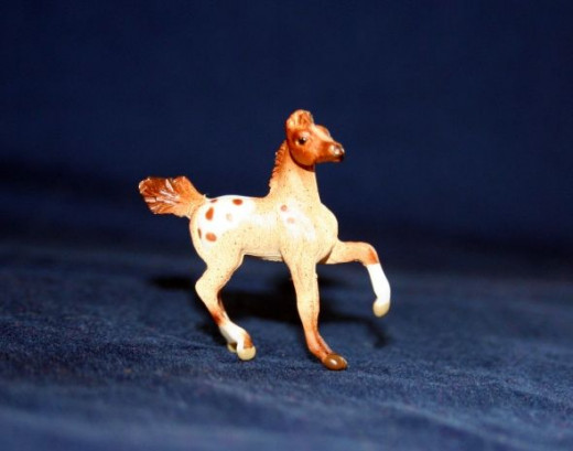 Breyer Mini Whinnies foal, owned and photographed by Jeanne Grunert