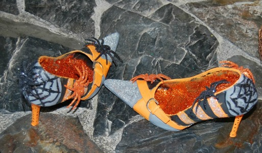 craft-orange-black-stripes-glittered-on-grey-witch-high-heels