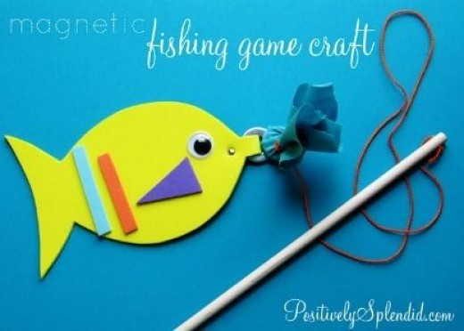 43 fun and easy little kids craft ideas hubpages for Easy fishing games