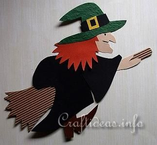 paper-craft-witch-on-broom-green-hat